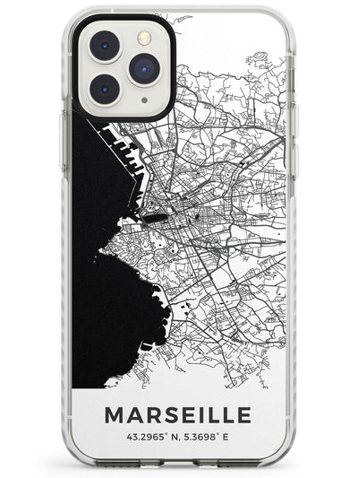 Map of Marseille, France Impact Phone Case for iPhone 11 Pro Max