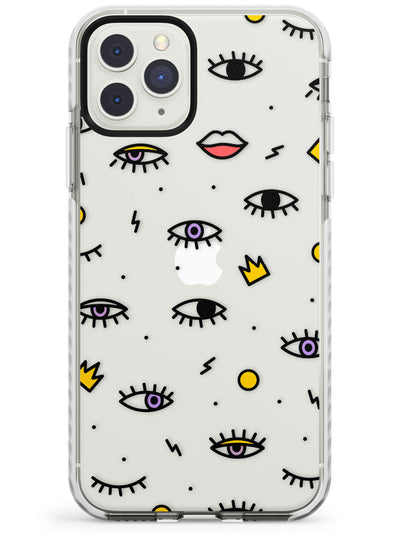 Eyes & Lips Icons iPhone Case  Impact Case Phone Case - Case Warehouse