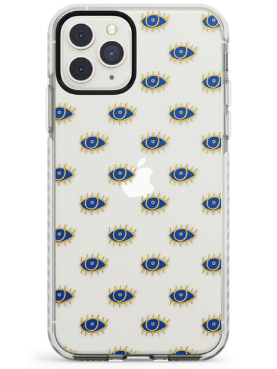 Gold Eyes (Clear) Psychedelic Eyes Pattern Impact Phone Case for iPhone 11 Pro Max