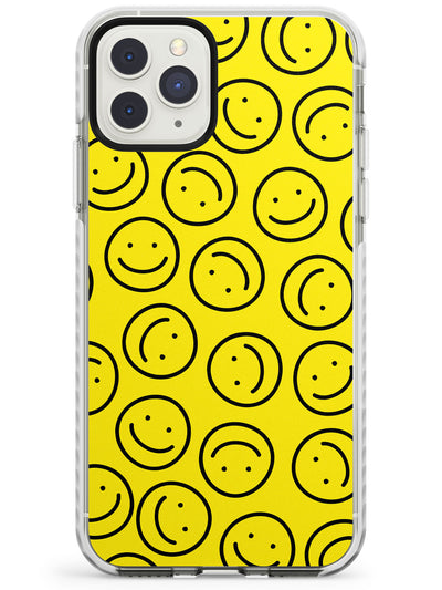 Happy Face Pattern iPhone Case  Impact Case Phone Case - Case Warehouse
