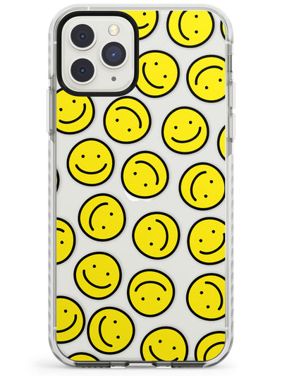 Happy Face Clear Pattern iPhone Case  Impact Case Phone Case - Case Warehouse