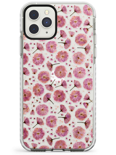 Pink Flowers & Blossoms Transparent Design Impact Phone Case for iPhone 11 Pro Max