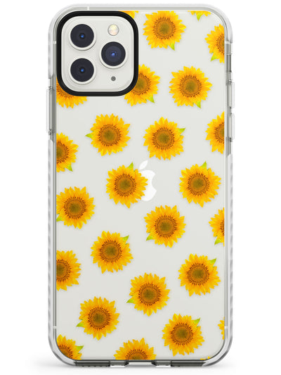 Sunflowers Transparent Pattern Impact Phone Case for iPhone 11 Pro Max