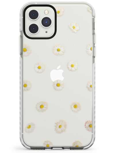 White Daisies Transparent Pattern Impact Phone Case for iPhone 11 Pro Max