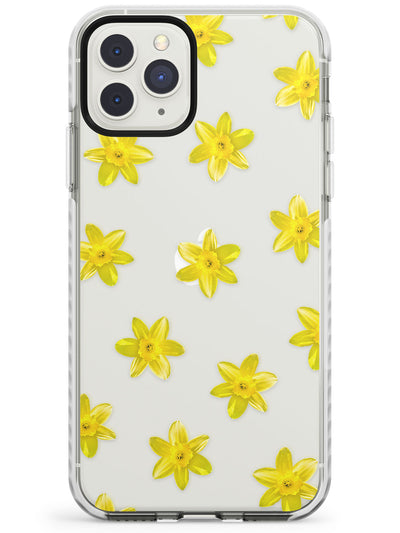 Daffodils Transparent Pattern Impact Phone Case for iPhone 11 Pro Max