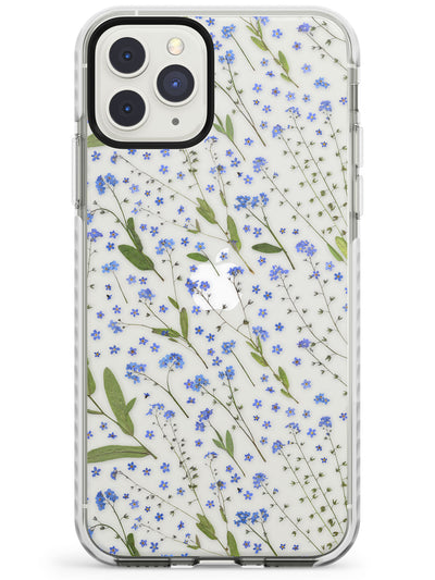 Blue Wild Flower Design Impact Phone Case for iPhone 11 Pro Max