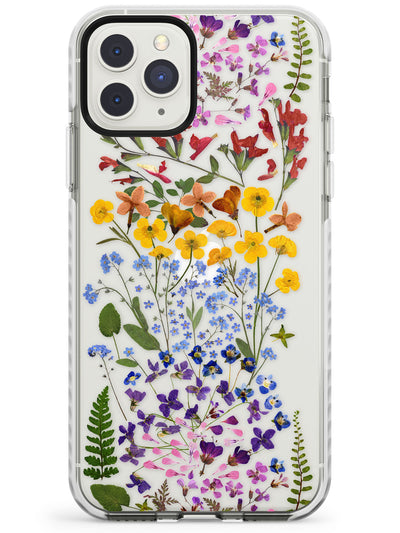Wild Flower Stripe Design Impact Phone Case for iPhone 11 Pro Max
