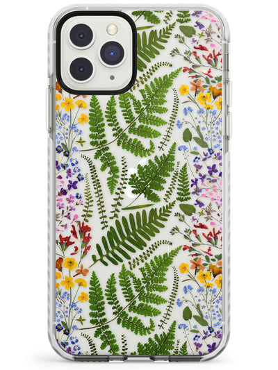 Busy Floral and Fern Design Impact Phone Case for iPhone 11 Pro Max