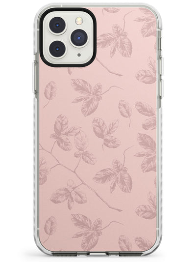 Pink Branches Vintage Botanical Impact Phone Case for iPhone 11 Pro Max