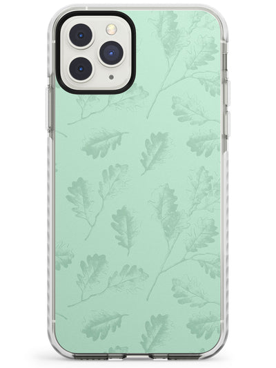 Green Oak Leaves Vintage Botanical Impact Phone Case for iPhone 11 Pro Max