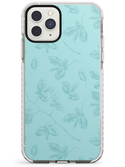 Blue Branches Vintage Botanical Impact Phone Case for iPhone 11 Pro Max