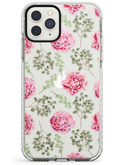 Roses & Eucalyptus Transparent Floral Impact Phone Case for iPhone 11 Pro Max
