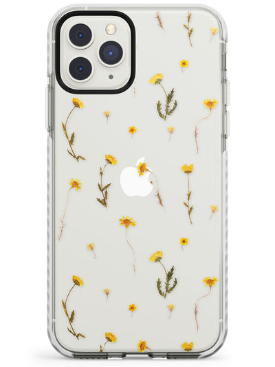 Mixed Yellow Flowers - Dried Flower-Inspired Impact Phone Case for iPhone 11 Pro Max