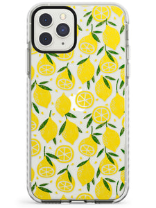 Bright Lemon Fruity Pattern iPhone Case