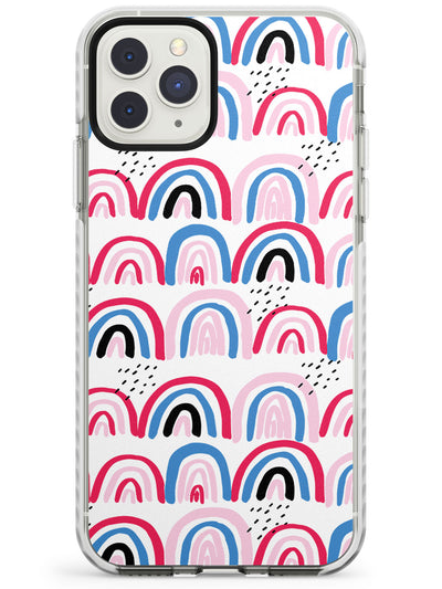 Funky Patterns Large Rainbows Impact Phone Case for iPhone 11 Pro Max