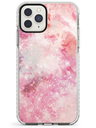 Pink Galaxy Pattern Design Impact Phone Case for iPhone 11 Pro Max