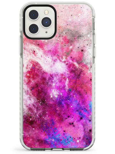 Magenta Galaxy Pattern Design Impact Phone Case for iPhone 11 Pro Max