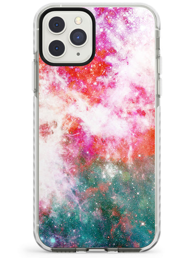 Red & Green Galaxy Pattern Design Impact Phone Case for iPhone 11 Pro Max