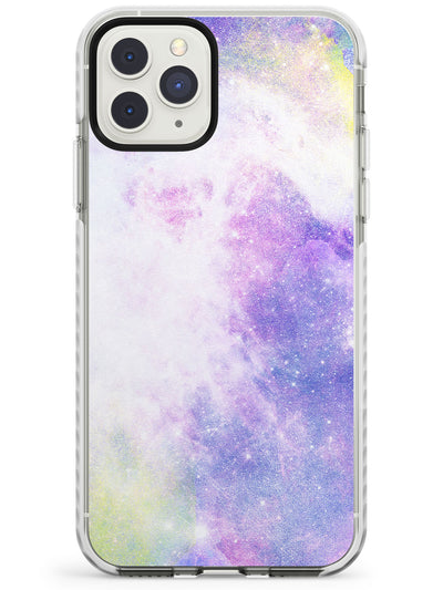 Purple & Yellow Galaxy Pattern Design Impact Phone Case for iPhone 11 Pro Max