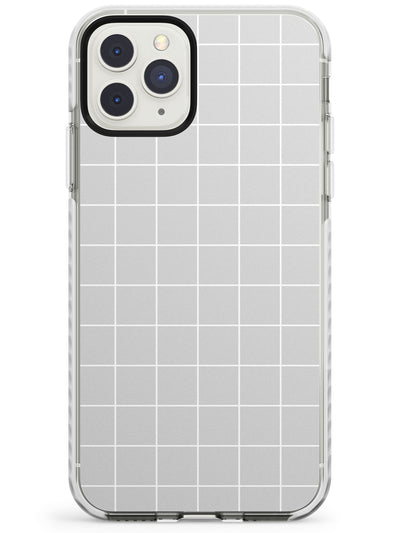 Simplistic Large Grid Pattern Grey Impact Phone Case for iPhone 11 Pro Max