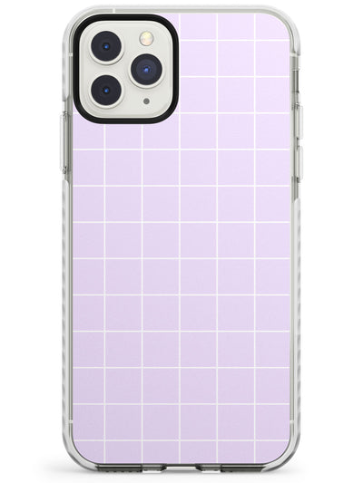 Simplistic Large Grid Pattern Purple Impact Phone Case for iPhone 11 Pro Max