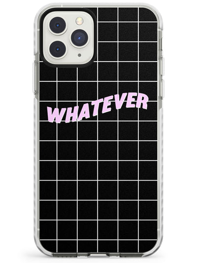 Grid Pattern Whatever Impact Phone Case for iPhone 11 Pro Max