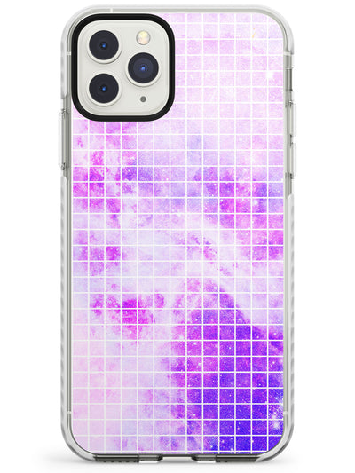 Abstract Grid Patterns Purple Galaxy - Light Impact Phone Case for iPhone 11 Pro Max