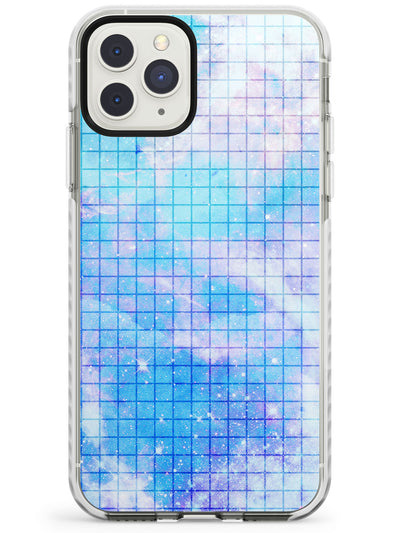 Abstract Grid Patterns Blue Galaxy - Dark Impact Phone Case for iPhone 11 Pro Max