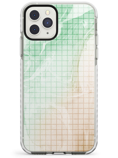 Abstract Grid Patterns Green Marbled - Dark Impact Phone Case for iPhone 11 Pro Max