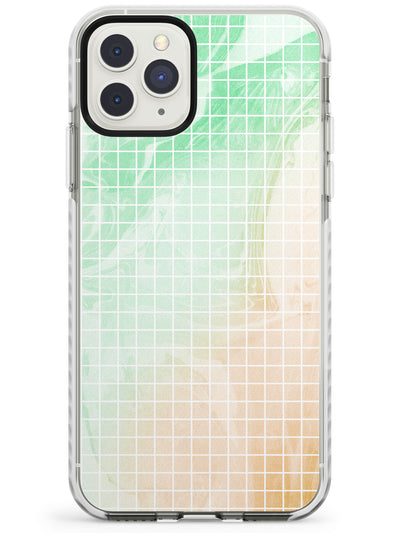 Abstract Grid Patterns Green Marbled - Light Impact Phone Case for iPhone 11 Pro Max
