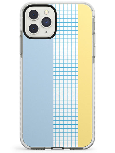 Abstract Grid Blue & Yellow Impact Phone Case for iPhone 11 Pro Max