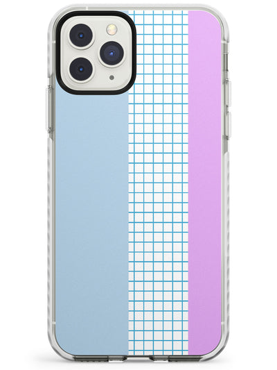 Abstract Grid Blue & Purple Impact Phone Case for iPhone 11 Pro Max
