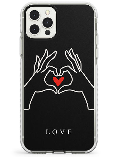 Heart Hand Symbol iPhone Case  Impact Case Phone Case - Case Warehouse