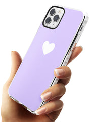 Single Heart White & Pale Purple Impact Phone Case for iPhone 11 Pro Max