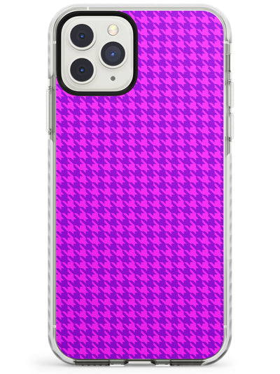 Neon Pink & Purple Houndstooth Pattern Impact Phone Case for iPhone 11 Pro Max