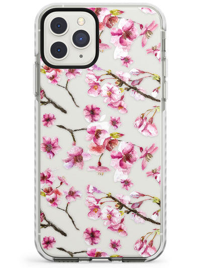 Sakura Watercolour iPhone Case  Impact Case Phone Case - Case Warehouse