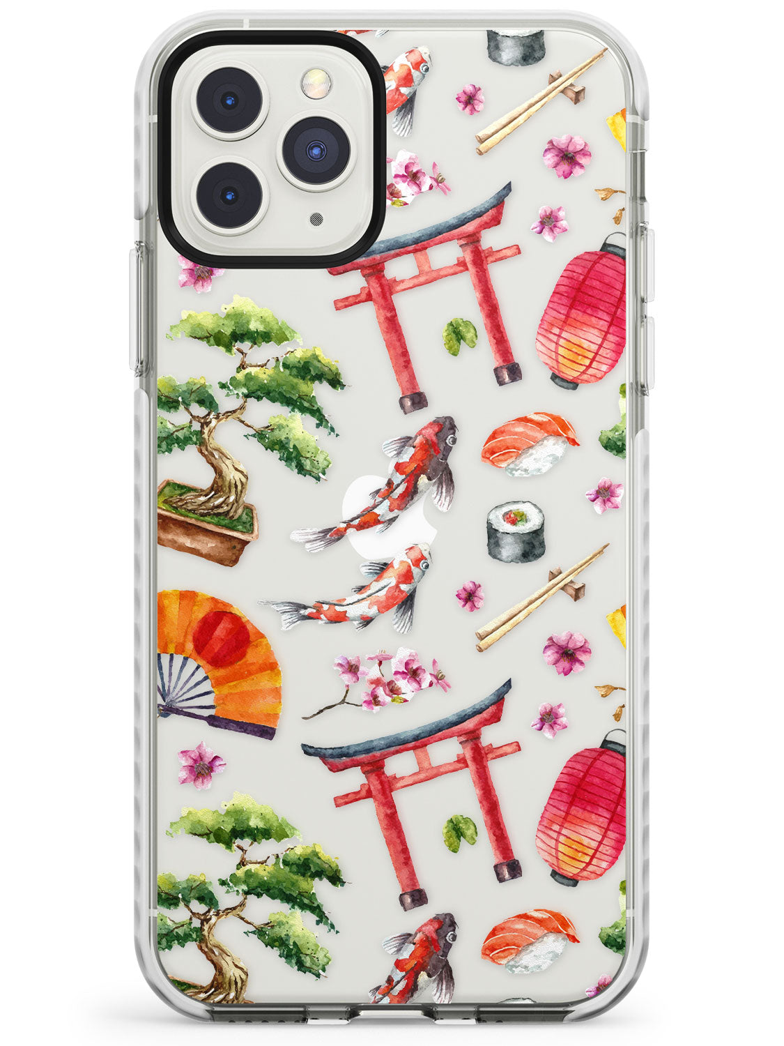 Mixed Japanese Watercolour Pattern - Large iPhone Case