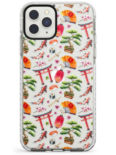 Mixed Japanese Watercolour Pattern - Small Impact Phone Case for iPhone 11 Pro Max
