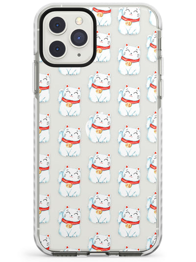 Lucky Cat Maneki-Neko Japanese Pattern Impact Phone Case for iPhone 11 Pro Max