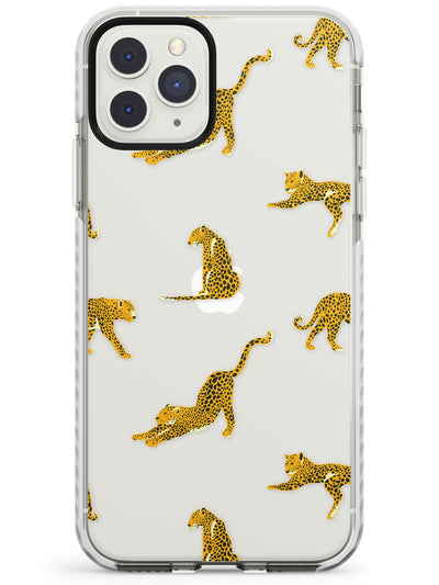 Clear Jaguar Jungle Cat Pattern Impact Phone Case for iPhone 11 Pro Max