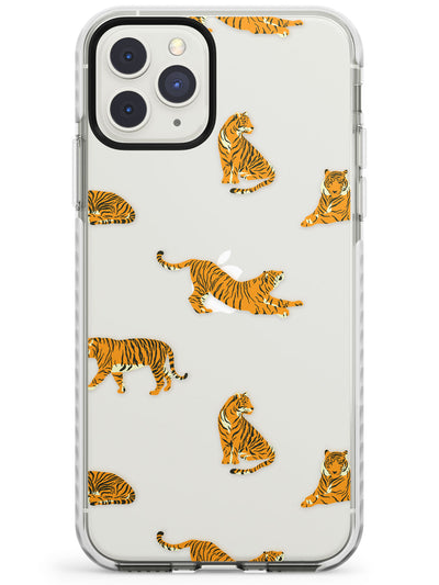 Clear Tiger Jungle Cat Pattern Impact Phone Case for iPhone 11 Pro Max