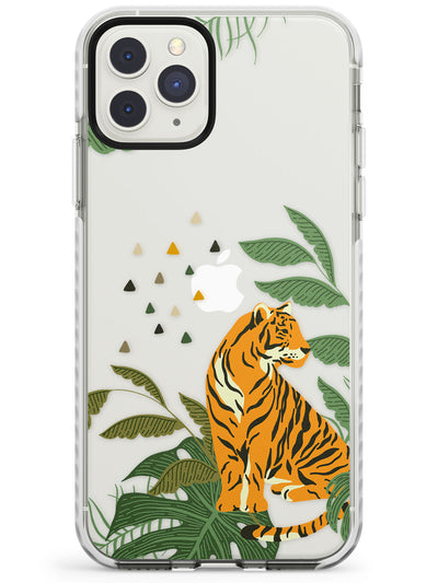 Large Tiger Clear Jungle Cat Pattern Impact Phone Case for iPhone 11 Pro Max