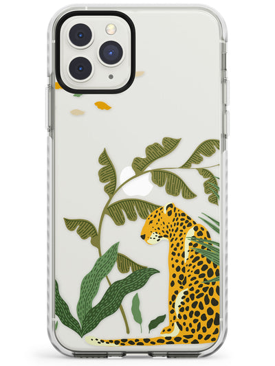 Large Jaguar Clear Jungle Cat Pattern Impact Phone Case for iPhone 11 Pro Max
