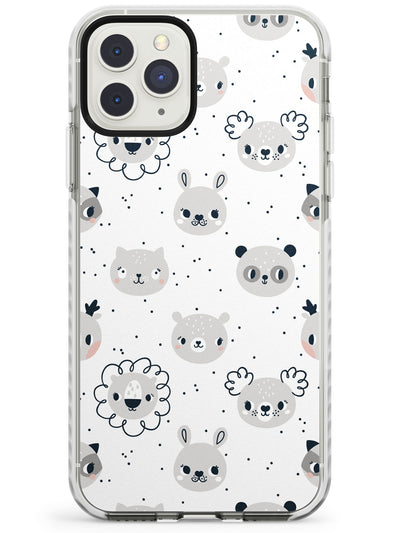 Adorable Mixed Animal Faces Impact Phone Case for iPhone 11 Pro Max