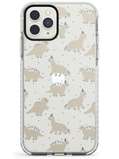 Adorable Dinosaurs Pattern (Clear) Impact Phone Case for iPhone 11 Pro Max