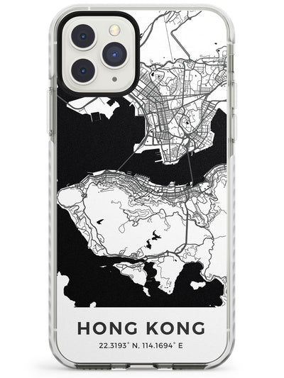 Map of Hong Kong Impact Phone Case for iPhone 11 Pro Max