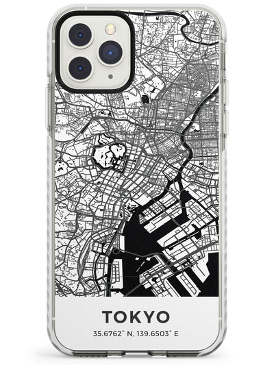 Map of Tokyo, Japan Impact Phone Case for iPhone 11 Pro Max
