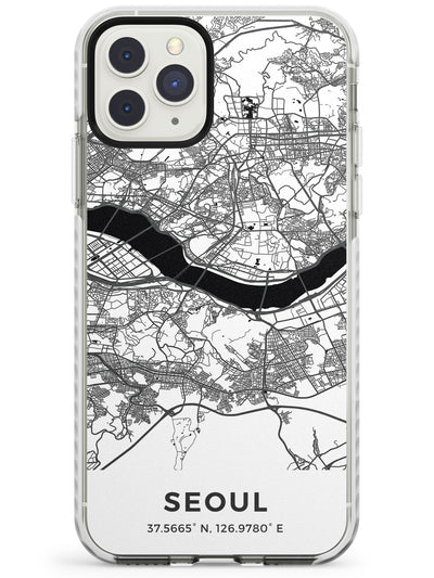 Map of Seoul, South Korea Impact Phone Case for iPhone 11 Pro Max