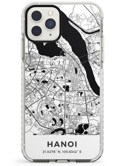 Map of Hanoi, Vietnam Impact Phone Case for iPhone 11 Pro Max