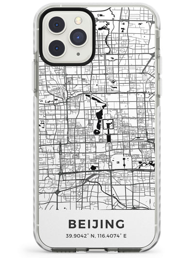 Map of Beijing, China Impact Phone Case for iPhone 11 Pro Max